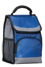 CARRY LIGHT INSULATED LUNCH BOX BAG FLAP COOLER  ZIPPER  FRONT AND SIDE POCKETS