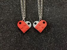 BrickCrafts LEGO® Best Friends Forever Heart Necklaces BFF 2-Part Friendship