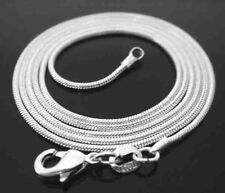 0.9MM STERLING SILVER 925 SOLID ITALIAN WOMEN'S SNAKE CHAIN NECKLACE JEWELLERY