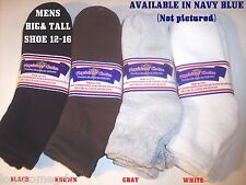 FREE SHIP 6 Pairs BIG MENS Physicians Choice Diabetic Ankle Socks 13-15  US Made
