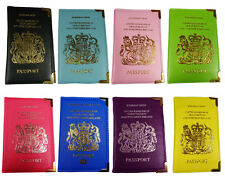 UK and European Passport Holder Protector Cover Wallet PU Leather United Kingdom