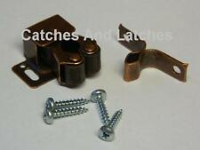 Twin Roller Spring Catches Bronzed For Cupboards Plinths Caravans FREE P&P