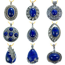 Lapis Gemstone Copper Pendant 1pcs