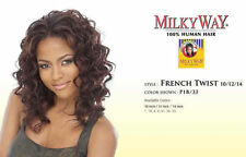 "FRENCH TWIST 14"" BY MILKYWAY WEAVE 100% HUMAN HAIR WAVY EXTENSION"