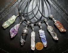 1 Wire Wrapped Pendant Necklace- Raw, Rough, Natural Crystals/ Points/ Spears