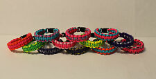 Neon Bright Colors Paracord Bracelets, Custom Fit, Pink Purple Yellow Green Turq