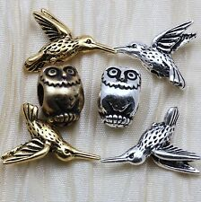 OWLS AND HUMMINGBIRDS BEADS - TIERRACAST PEWTER