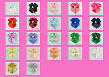 100 Satin Ribbon Bows With Pearl Bead Many Colours Listed Sewing Craft