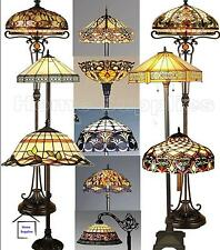 TIFFANY STYLE STAINED GLASS HANDCRAFTED FLOOR LAMPS - DIFFERENT DESIGNS