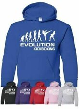 Evolution Of Kickboxing School Sport Boys Girls Kids Hoodie Age 5-13