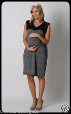 BRAND NEW *PEA IN A POD* BLACK & WHITE BLOCK MATERNITY DRESS FULLY LINED Size 12