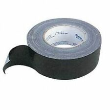 1 ROLL OF SILVER/BLACK 48MM X 50M DUCT GAFFER CLOTH BOOK BINDING WATERPROOF TAPE