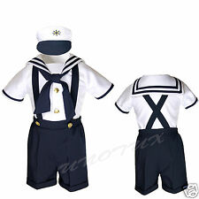 Infant Toddler & Boy SAILOR SHORT SUIT 3PC for Wedding Party Easter Outift 0-24M