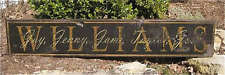 PERSONALIZED FAMILY NAME SIGN- Painted Wooden Sign HUGE