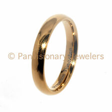 Tungsten Carbide Ring 4MM 18K Gold IP Dome Wedding Band Thumb Midi Pinky