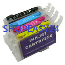 4 refillable ink cartridge compatible for stylus T128 T129 T125 T126 T133 T138