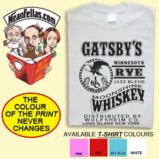 THE GREAT GATSBY inspired F Scott Fitzgerald LITERARY T-SHIRT - FREE POSTAGE