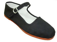 NEW WOMEN BLACK  MARY JANE SHOE SZ: 5-6-7-8-9-10-11-12 COTTON UPPERS THICK SOLE