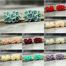 Resin Flowers 26X17mm Cabochons flatback Vintage Style cameo wholesale for rings