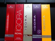 3 x SCHWARZKOPF IGORA ROYAL HAIR COLOR 60ml 8-0 TO 9-998