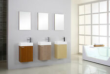 BATHROOM CLOAKROOM VANITY UNIT WITH MIRROR, BASIN, TAP, WASTE AND BOTTLE TRAP