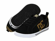 DC CONQUER : Womens Skate Shoes (NEW w/ FREE SHIP) ladies  BLACK & METALLIC GOLD