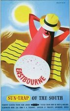 1950's British Railways Eastbourne Sun Trap of The South Poster A3 / A2 Print