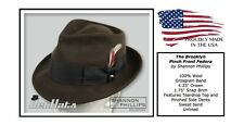 Shannon Phillips BROWN Brooklyn PINCH FRONT Fedora Wool Hat ALL SIZES New