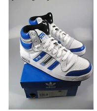 Adidas  whites leather top ten hi top medium childrens lace up trainers G45810