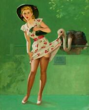 Vintage Ostrich Feather Pin-Up Art Frahm PINUP036 Poster A4 A3 A2 A1