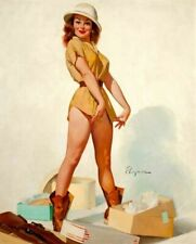 Vintage Pin-Up Girl Fitto Kill Elvgren PINUP259 Print Poster Canvas A4 A3 A2 A1
