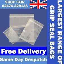 Grip Seal Bags Self Resealable Mini Grip Poly Plastic Clear Bags ***All Sizes***