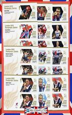 London 2012 Paralympic Games Gold Medal Winner Individual Minisheets. J2 - K1
