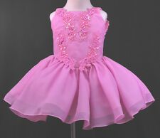 Baby Girl National Glitz Pageant Flower girl formal Dress size 1to7 Fuchsia Pink