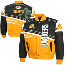 Green Bay Packers Youth First and Ten Twill Jacket - Green/Gold By GIII