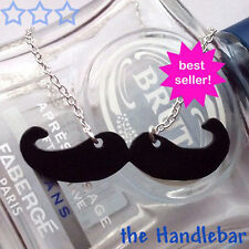 Moustache necklace - choose your style - handmade jewellery- donation to charity