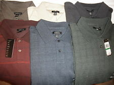 NWT $50 Mens Van Heusen Long Sleeve Jasper Polo Shirts: M L XL XXL