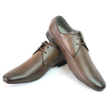 New Mens Dress Shoes Brown Bravo Berto Pointed Toe Leather Lining  Modern Style