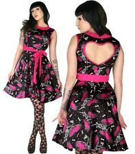 Too Fast Flamingo Nancy Dress Skeleton Flamingos with Pink Wings and Polka Dots