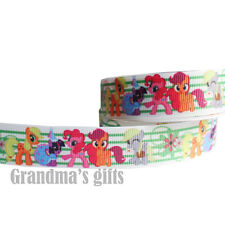 "7/8""22mm Cute My Little Ponys Printed Grosgrain Ribbon10/50/100 Yards Wholesale"