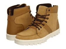 DC - WOODLAND Mens Boots (NEW w/ FREE SHIPPING) Trail Hiking Rugged  CAMEL BROWN