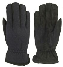 MANZELLA O273M MENS NWT WOOL KNIT CASUAL DEER SUEDE PALM EVERDAY WINTER GLOVE