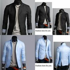 Stylish Man Mens Casual Formal Slim Fit One Button Solid Suit Blazer Coat Jacket