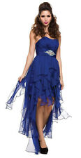 STRAPLESS HIGH LOW COCKTAIL DRESS PROM PAGEANT SHORT SWEET 16 DESIGNER FORMAL