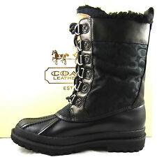COACH LAURA SIGNATURE BLACK WINTER BOOTS 5 to 11