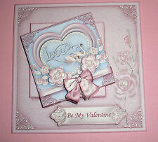 Handmade Greeting Card 3D Love With Swans