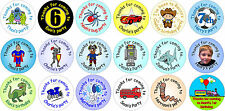 48 custom personalised birthday / party stickers for boys