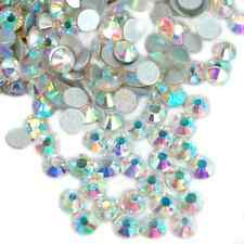 High Quality crystal 6ss - 20ss Flat Back No-Hot Fix Crystal AB Rhinestones