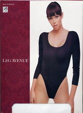 Semi Opaque Stretch Body Suit Leotard Snaps Black or White L/XL Queen LA PC8001