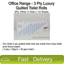 Office Range - 3 Ply Luxury Quilted Toilet Rolls